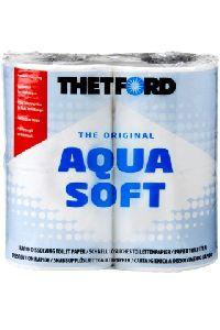 Бумага биотуалетная, быстрорастворимая Aqua Soft, 4 рулона