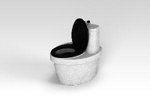 Туалет торфяной «Rostok» с термосиденьем, белый гранит