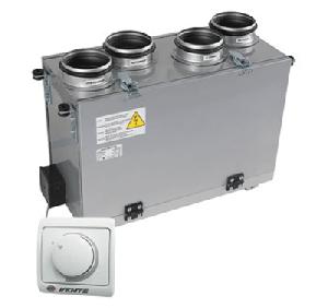 Приточно-вытяжная установка с рекуператором ВЕНТС ВУТ 200 В мини (РС)