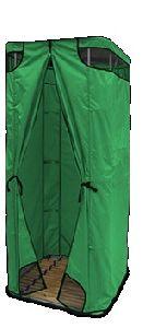 Дачная душевая кабина без бака (зеленая)